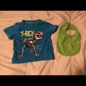 Carter's T-Rex T-shirt and Bib